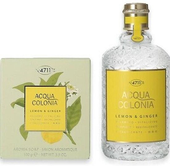 Maurer & Wirtz 4711 Aqua Colognia Lemon & Ginger - Set (col 170ml + soap/100g) — Imagine N2