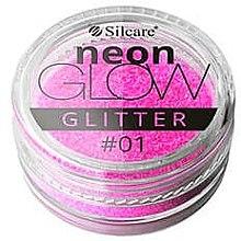 Parfumuri și produse cosmetice Glitter pentru unghii - Silcare Brokat Neon Glow