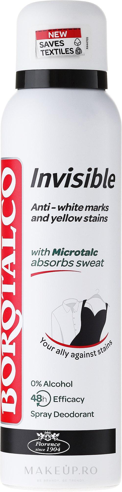 Deodorant spray - Borotalco Invisible Deo Spray — Imagine 150 ml