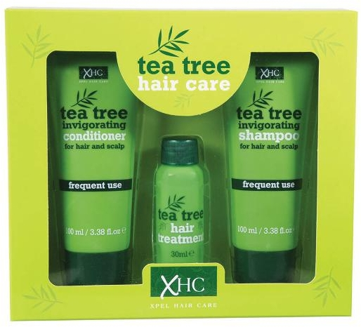 Set - Xpel Marketing Ltd Tea Tree Invigorating (shm/100 ml + cond/100 ml + ser/30 ml)