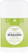 "Parfumuri și produse cosmetice Deodorant stick, ""Persian Lime"" - Ben & Anna Natural Soda Deodorant Persian Lime"