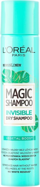 Șampon uscat - L'Oreal Paris Magic Shampoo Invisible Dry Shampoo Vegetal Boost