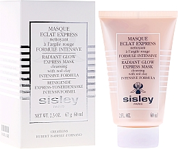 Mască cu argilă roșie - Sisley Eclat Express Radiant Glow Express Mask Cleansing With Red Clay Intensive Formula — Imagine N1