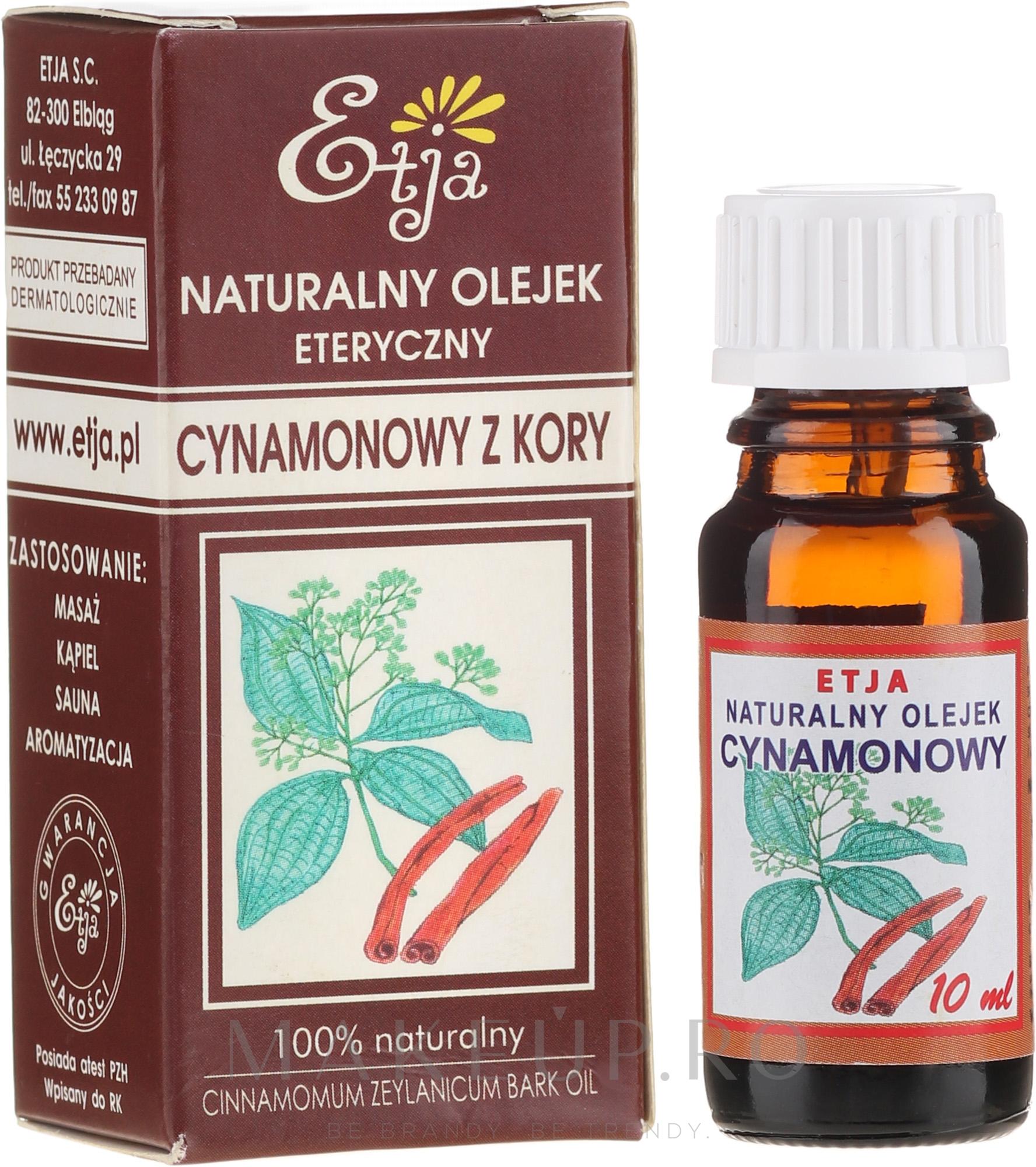 Ulei esențial de scorțișoară - Etja Natural Oil — Imagine 10 ml