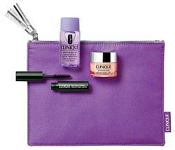 Parfumuri și produse cosmetice Set - Clinique All About Eyes Gift Set (mascara/3.5ml + dem/30ml + eye/cr/5ml + pouch)