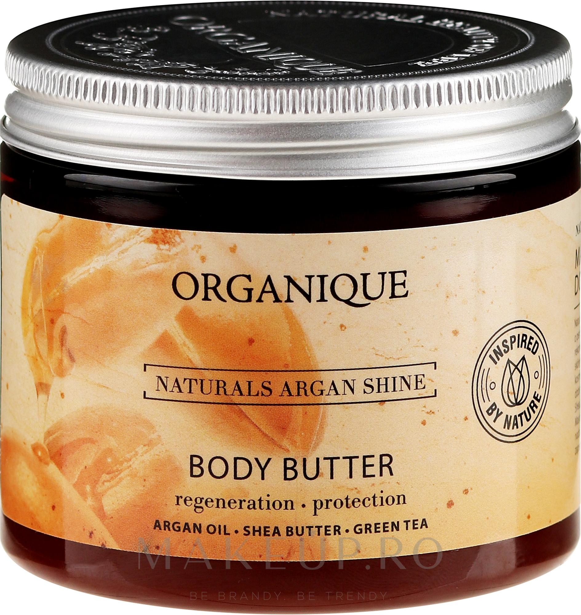 Ulei de corp pentru piele uscată și sensibilă - Organique Naturals Argan Shine — Imagine 150 ml