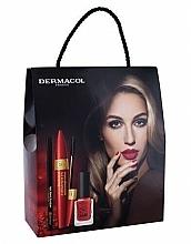 Parfumuri și produse cosmetice Set - Dermacol Obsession (mascara/9ml + eye/liner/3g + n/polish/11ml)