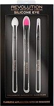 Set Pensule pentru machiaj din silicon - Makeup Revolution Silicone Eye Set — Imagine N1