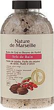 Parfumuri și produse cosmetice Sare de baie cu miros de boabe de goji și unt de shea - Nature de Marseille