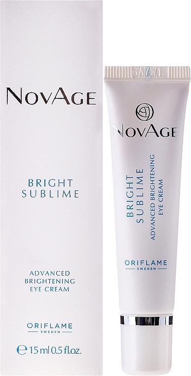 Cremă iluminatoare sub ochi - Oriflame NovAge Bright Sublime  — Imagine N1