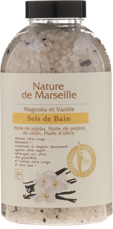 Sare de baie cu aromă de magnolie și vanilie - Nature de Marseille