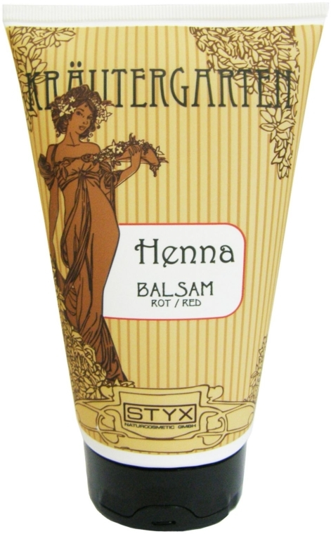 Balsam de păr Henna, roșu - Styx Naturcosmetic Henna Balsam Red — Imagine N1