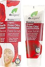 Parfumuri și produse cosmetice Scrub pentru față - Dr. Organic Bioactive Skincare Rose Otto Face Scrub