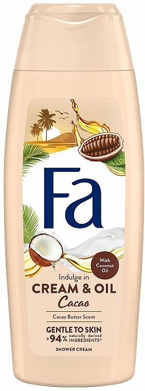 """Cremă-Gel de duș """"Ulei de cacao și cocos"""" - Fa Cacao Butter And Coco Oil"""