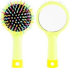 Parfumuri și produse cosmetice Perie de păr, verde - Twish Handy Hair Brush with Mirror Spring Bud