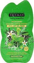 """Parfumuri și produse cosmetice Mască de față """"Ceai verde și floare de portocal"""" - Freeman Feeling Beautiful Brightening Green Tea+Ornge Blossom Peel-Off Gel Mask (Mini)"""
