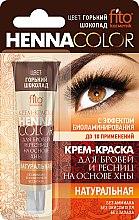 Parfumuri și produse cosmetice Vopsea Cremă pentru sprâncene și gene pe bază de henna - FitoKosmetik Henna Culoare