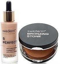 Parfumuri și produse cosmetice Set - Swederm (bronzer/13g + found/30ml)
