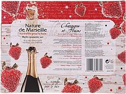 "Set ""Căpșuni și Șampanie"" - Nature De Marseille (sh/gel/150ml +cr/60ml + b/balm/100ml + soap/95g) — Imagine N6"