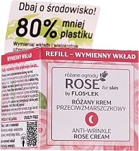 Parfumuri și produse cosmetice Cremă antirid de noapte - Floslek Rose For Skin Anti-Wrinkle Night Cream Refill