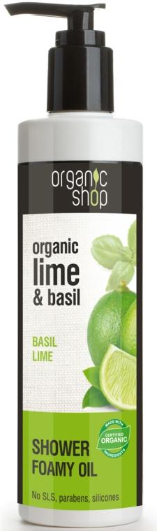Ulei de duș - Organic shop Body Foam Oil Organic Lime and Basil — Imagine N1