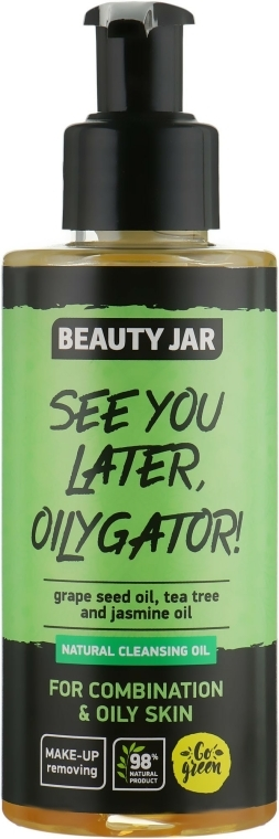 """Ulei de față """"See You Later, Oilygator!"""" - Beauty Jar Natural Cleansing Oil — Imagine N1"""