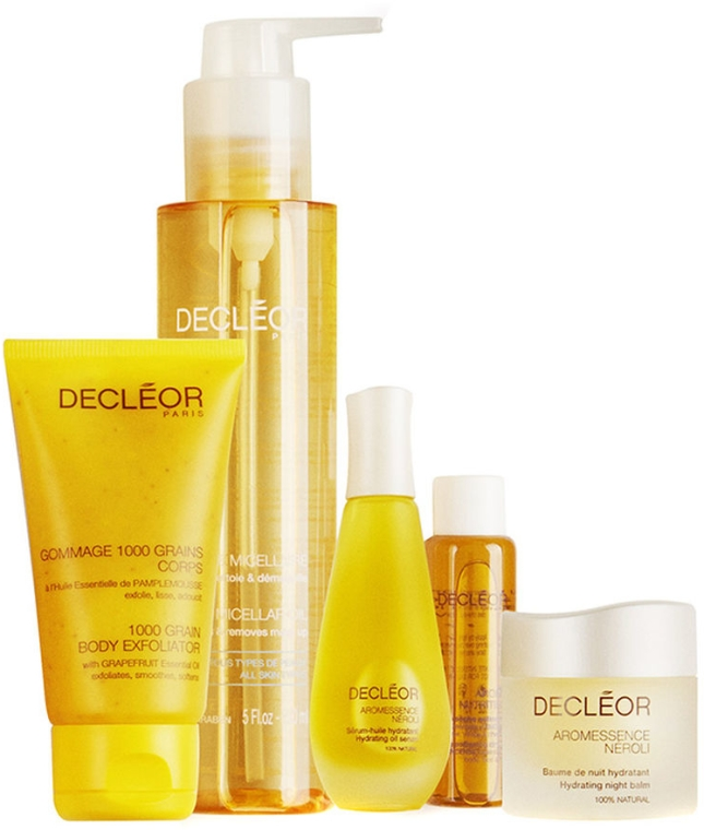Set - Decleor Box of Secrets Merry Oils (balm/15ml + ser/15ml + miccelar/150ml + oil/15ml + b/exf/50ml) — Imagine N3