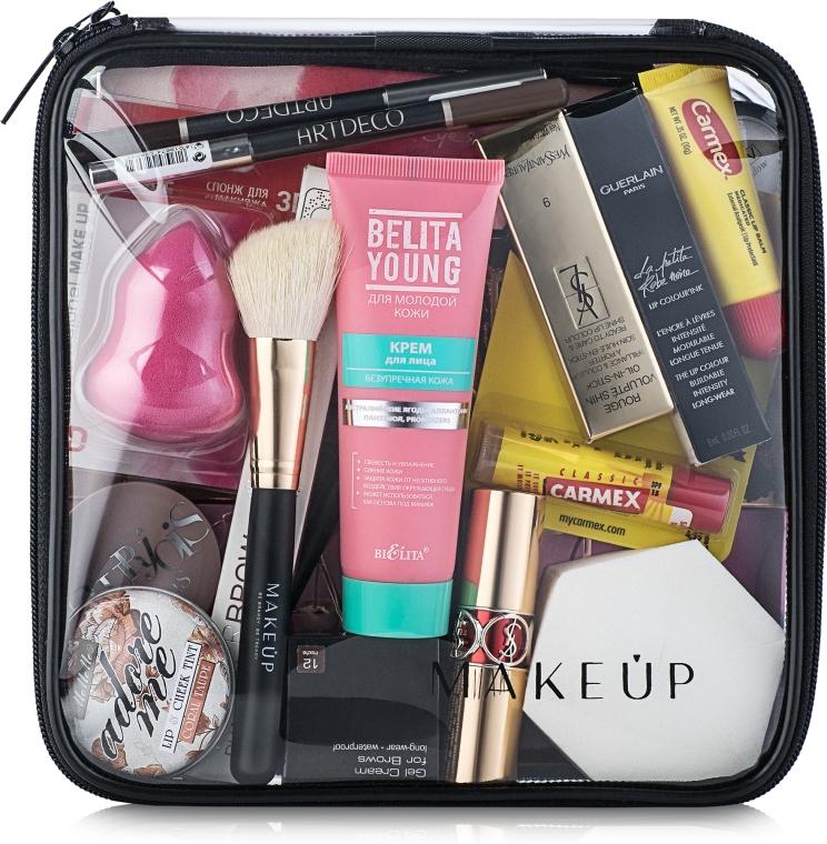 """Trusă cosmetică incoloră """"Visible Bag"""" 20x20x8 cm (fără produse) - MakeUp"""