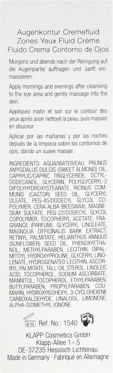 "Cremă pentru pleoape ""Colagen"" - Klapp Collagen CSIII Eye Zone Cream Fluid — Imagine N3"