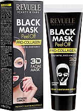 """Parfumuri și produse cosmetice Mască neagră pentru față """"Procolagen"""" - Revuele Black Mask Peel Off Pro-Collagen"""