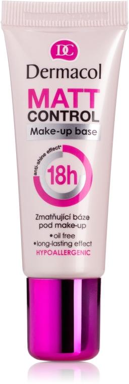 Bază mată pentru machiaj - Dermacol Matt Control MakeUp Base 18h