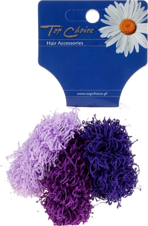 """Elastice de păr """"Spaghetti"""" 3 bucăți, violete - Top Choice"""