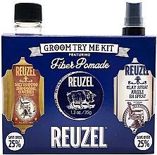 Parfumuri și produse cosmetice Set - Reuzel Fiber Try Me Kit (h/pomade/35g + h/spray/100ml + shm/100ml)