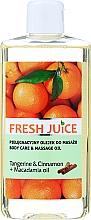 "Parfumuri și produse cosmetice Ulei de corp ""Mandarină. Scorțișoară. Macadamia"" - Fresh Juice Energy Tangerine&Cinnamon+Macadamia Oil"