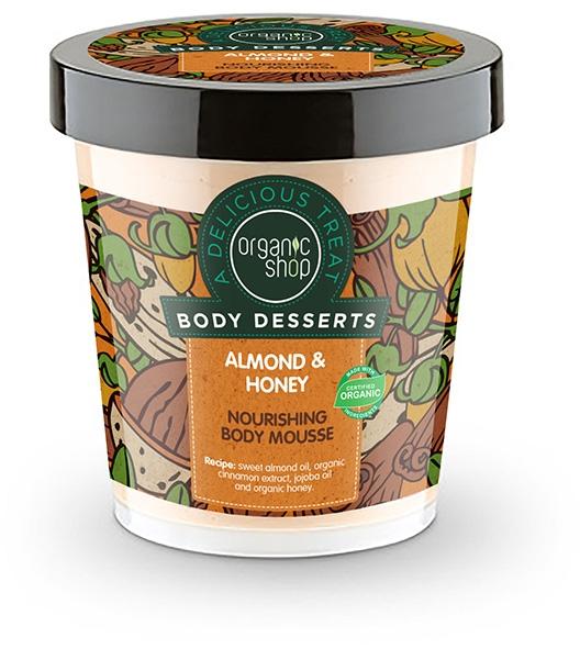 """Spumă nutritivă de corp """"Migdale și miere"""" - Organic Shop Body Desserts Almond & Honey — Imagine N1"""