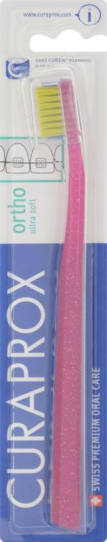 Periuță de dinți, zmeurie - Curaprox CS 5460 Ultra Soft Ortho — Imagine N1