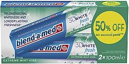 """Parfumuri și produse cosmetice Set paste de dinți """"3D White"""" - Blend-a-med 3D White Fresh Extreme Mint Kiss"""
