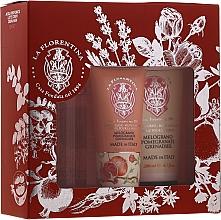 "Parfumuri și produse cosmetice Set ""Rodie"" - La Florentina Pomegranate (b/splash/200ml + b/lot/200ml + h/cr/75ml)"