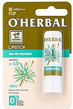 Parfumuri și produse cosmetice Ruj igienic hidratant, cu extract de aloe - O'Herbal Moisturizing Lipstick With Aloe Vera extract SPF15