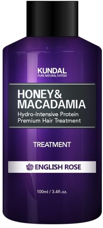 """Balsam de păr """"Trandafir englez"""" - Kundal Honey & Macadamia Treatment English Rose"""