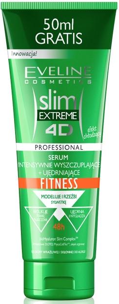 Corector-cremă pentru scăderea intensivă a greutății + creșterea elasticității - Eveline Cosmetics Slim Extreme 4D Intensely Slimming + Firming Serum Fitness Cooling Effect — Imagine N1
