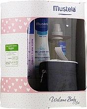 Parfumuri și produse cosmetice Set - Mustela Welcome Baby Set Pink (b/gel/200ml + b/cr/50ml + b/oil/100ml + case)