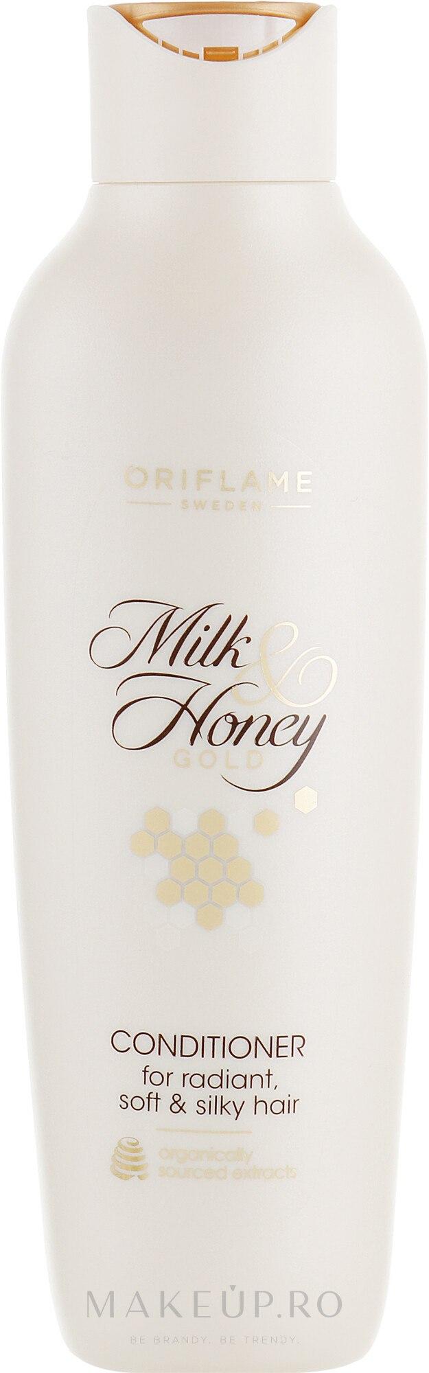 """Balsam de păr """"Lapte și miere. Seria de aur"""" - Oriflame Milk & Honey Gold Hair Conditioner — Imagine 250 ml"""