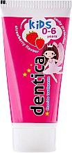 """Parfumuri și produse cosmetice Pastă de dinți pentru copii """"Căpșuni"""" - Dentica Dental Protection For Kids"""