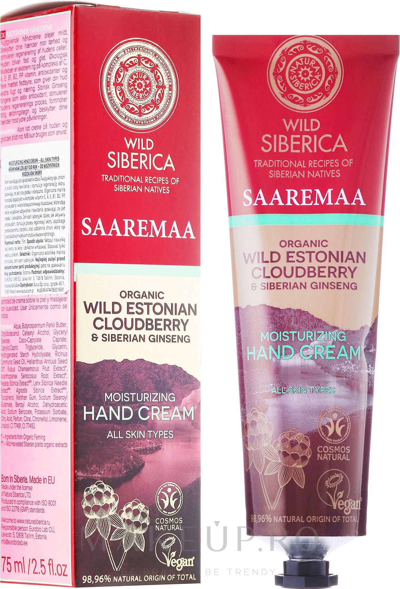 Cremă hidratantă pentru mâini - Natura Siberica Wild Saaremaa Moisturizing Hand Cream — Imagine 75 ml