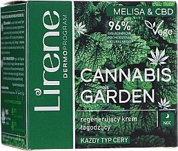 Parfumuri și produse cosmetice Cremă revitalizantă și calmantă pentru toate tipurile de ten - Lirene Cannabis Garden Melissa & CBD