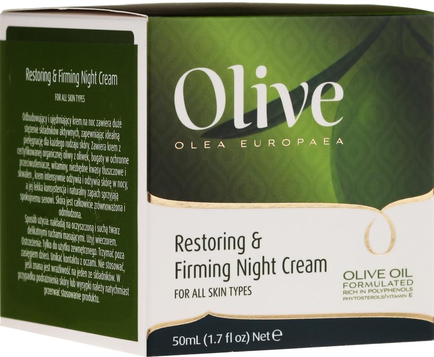 Cremă regenerantă și de întărire de noapte pentru față - Frulatte Olive Restoring Firming Night Cream