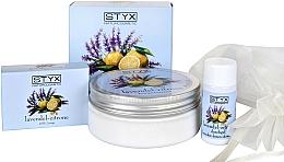 """Parfumuri și produse cosmetice Set """"Lavandă și Levănțică"""" - Styx Naturcosmetic (b/cr/200ml + soap/100g + sh/gel/30ml)"""