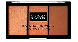 Parfumuri și produse cosmetice Paletă iluminatoare - Gabriella Salvete Trio Highlighting Palette
