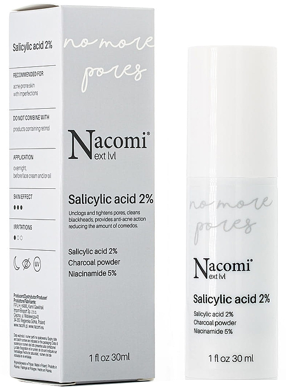 Ser facial cu acid salicilic 2% - Nacomi Next Level Salicylic Acid 2%